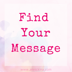 find your message