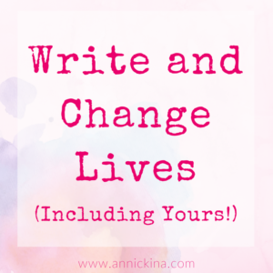 write and change lives